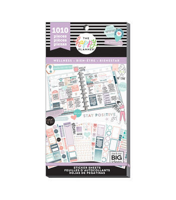 The Happy Planner 1010 pk Stickers-Wellness