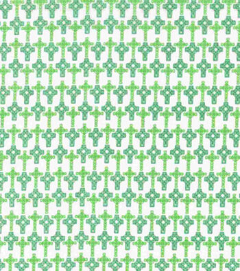 St. Patrick's Day Fabric 43''-Celtic Cross
