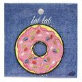 Fab Lab Donut Iron-on Applique-Pink