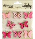 Darjeeling Teastained Mini Butterflies 1\u0022-Pink