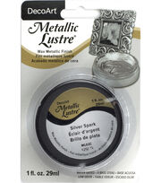 DecoArt Metallic Lustre 1 fl. oz. Wax-Silver Spark, , hi-res