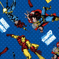 Marvel Comics Avengers Flannel Fabric -Retro Comics Power Up