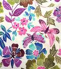 Warm Weather Apparel Fabric-Poplin Butterfly Multi Cotton