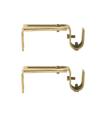 Kenney Adjustable Curtain Rod Mounting Brackets-Gold