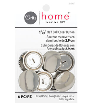 Dritz Home Creative DIY 6 pk 1 1/8'' Half Ball Cover Buttons