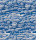 Novelty Cotton Fabric 44\u0027\u0027-Photoreal Storm Clouds