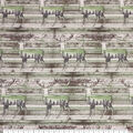 Super Snuggle Flannel Fabric-Patterend Deer on Wood