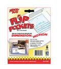 Flip Pockets 4\u0022x6\u0022 Peel&Stick Holders-6PK