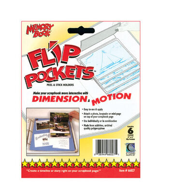 "Flip Pockets 4""x6"" Peel&Stick Holders-6PK"