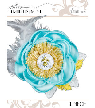 Jolee's Boutique Parisian Soft Blue Embellished Flower