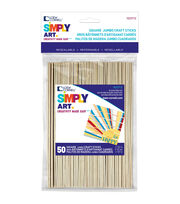 Loew-Cornell Simply Art 50 pk Square Jumbo Craft Sticks, , hi-res