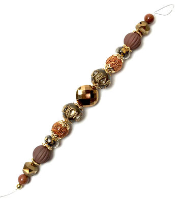 """Jesse James 7"""" Strung Beads-Harvest Faceted Glass Beads"""