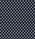 Wide Cotton Fabric-White Dots on Navy