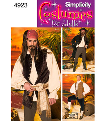 Simplicity Pattern 4923-Men Pirate Costumes