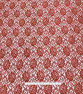 Stretch Lace Knit Fabric-Rust