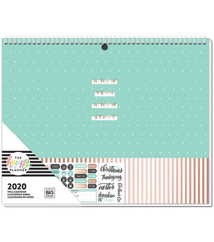 The Happy Planner 2020 Wall Calendar-Teal