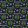Christmas Seattle Seahawks Flannel Fabric-Holiday