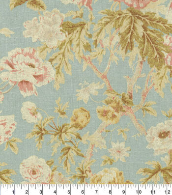 """Waverly Upholstery Fabric 54""""-Among the Roses Mist"""