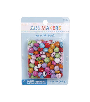 Little Makers 2.29 oz. Textured Beads-Multi