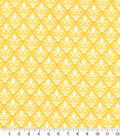 Quilter\u0027s Showcase Fabric -Amber Yellow Damask