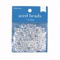 Glass E Beads, 6/0, Crystal AB, 20 grams