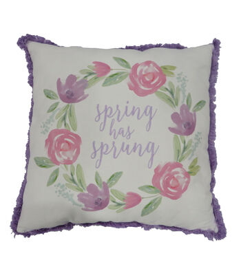 Easter Decor 18''x18'' Embroidery Pillow-Spring Has Sprung