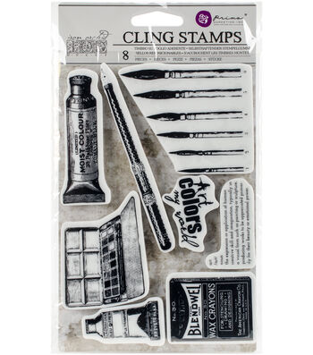 Prima Marketing Iron Orchid Designs 8 pk Cling Stamps-Art Supplies