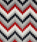 Sew Lush Fabric 57\u0022-Red Gray Chevronicle