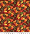 Harvest Cotton Fabric 42\u0027\u0027-Harvest Leaves