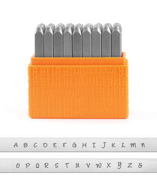 ImpressArt 27 pk 3 mm Basic Bridgette Stamps-Uppercase Letters