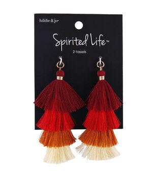 hildie & jo Spirited Life 2 pk Tassels-Red Ombre