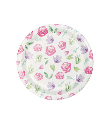 Easter Decor 8 pk Lunch Plates-Floral