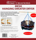 Innovative Home Creations 26\u0027\u0027 Mesh Hanging Sweater Dryer-White