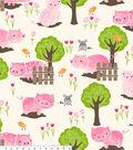 No Sew Fleece Throw-Pigs And Fences