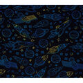 Super Snuggle Flannel Fabric-Rocketships in Space