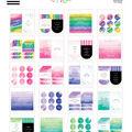 The Happy Planner Tiny Sticker Pad-Watercolor Decorative