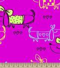 Girly Dachshund Print Fabric