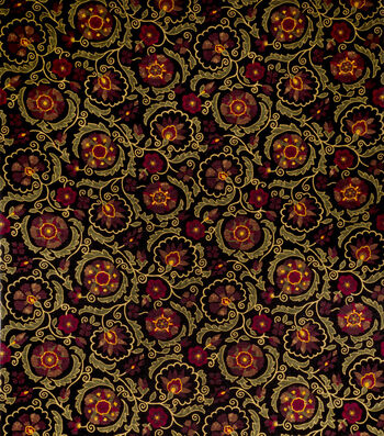 "Jaclyn Smith Upholstery Fabric 54""-Clarinet/Berry"