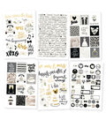 Simple Stories Always & Forever 6 pk Sticker Sheets with Gold Foil
