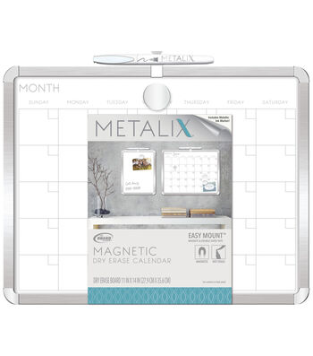 The Board Dudes Metalix Framed 11''x14'' Magnetic Dry Erase Board