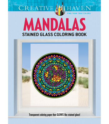 Adult Coloring Book-Creative Haven Mandalas Stained Glass