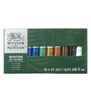 Winsor & Newton Winton Oil Paint Basic Set 21ml 10Pk, , hi-res