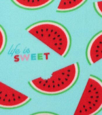 """Blizzard Fleece Fabric 59""""-Life Is Sweet Watermelon"""