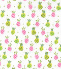 Novelty Cotton Fabric 43\u0027\u0027-Pink & Yellow Pineapples