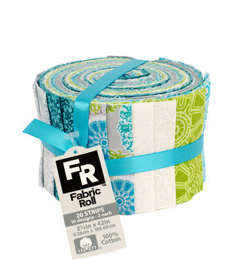 Jelly Roll Cotton Fabric Pack 2.5''x42''-Trend 3