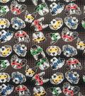 Doodles Juvenile Interlock Knit Fabric 57\u0027\u0027-Dogs in Colorful Masks