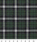 Snuggle Flannel Fabric -Carter Green Plaid