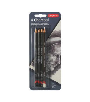 Derwent Charcoal Pencil Set 4/Pkg