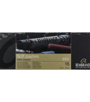 Rembrandt 15 pk Full Stick Extra Fine Soft Pastels-Dark Shades