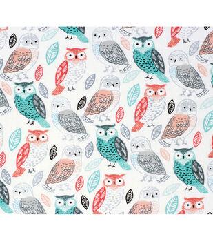 Nursery Flannel Fabric-Arrows & Owls